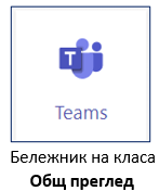 Teams Бележник на класа Общ преглед